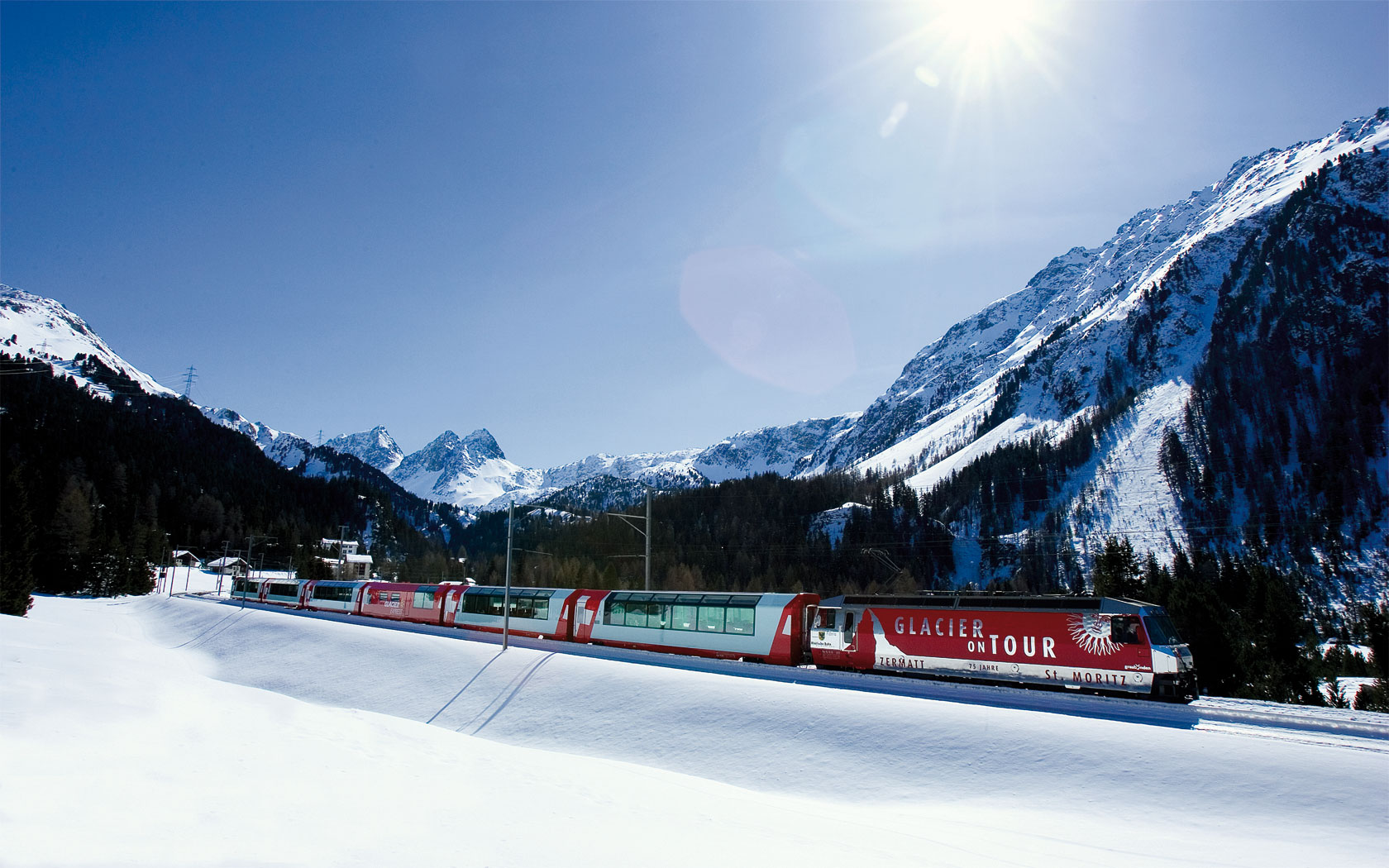 The Glacier Express: Exploring Winter Wonderlands by Rail